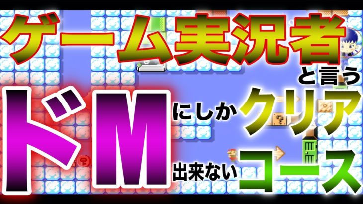 スーパーマリオメーカー2  ゲーム実況者というドMにしかクリアできないコース  SUPER MARIO MAKER 2