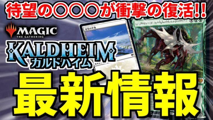 【MTG】ファン待望の○○○が遂に復活!? 最新セット『カルドハイム』最新情報